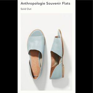 NWT Anthropologie Souvenir Flats blue 8